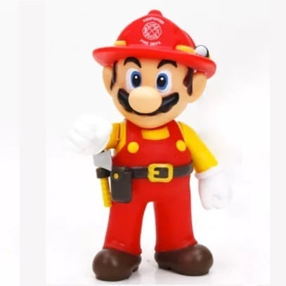"Figura Mario Bombero Banpresto Mario Odissey Videojuegos 4"" en Bolsa (Copia)"