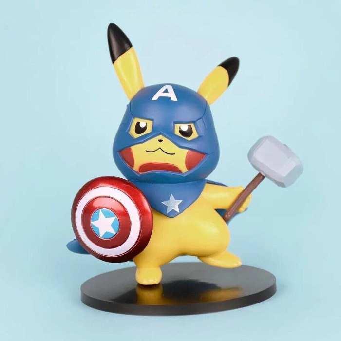 """Figura Pikachu PT Pokémon Anime Disfrazado de Capitán América 4"""""""