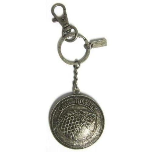Llavero Metálico Casa Stark PT Juego de Tronos Series Emblema Tallado