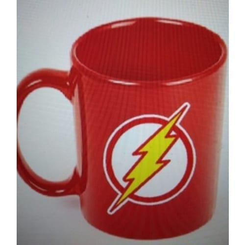 Mug Tallado Flash TooGEEK Flash DC Comics Logo Fondo Rojo
