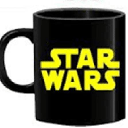 Mug Tallado TooGEEK Star Wars Logo Letras Amarillas