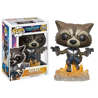 Figura Rocket Racoon Funko POP Guardianes de la Galaxia Marvel Guardianes de la Galaxia Vol.2