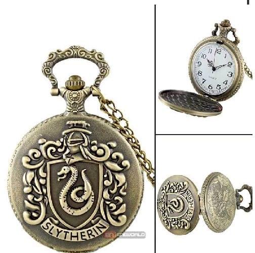 Reloj de Bolsillo Slytherin PT Harry Potter Fantasia