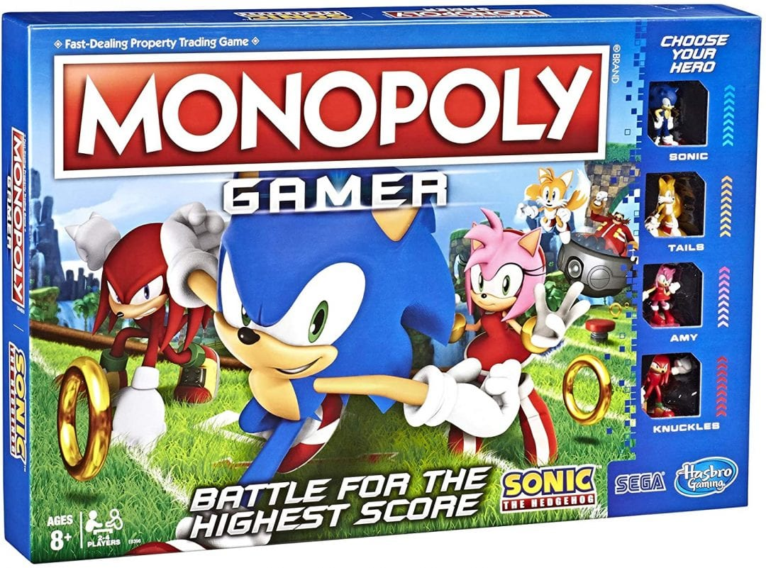 Juego de mesa Monopoly Sonic (Entrega de 4 a 5 semanas una vez realizado el pago)