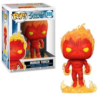 Figura La Antorcha Humana Funko POP Los 4 Fantásticos Marvel