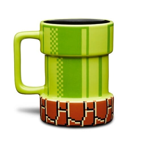 Mug Tubo PT Mario Bros Videojuegos Cerámica 3D