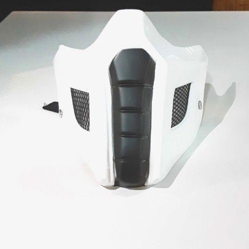 Cubre Tapabocas Noob Saibot CStudio Mortal Kombat Polietileno Calibre 60 Termoformado Blanco