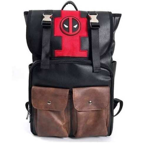Maleta Deadpool PT Marvel Colores de Traje Con Bolsillos en Cuero (Copia)