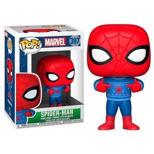 Figura Spiderman Funko POP Marvel con Sweter