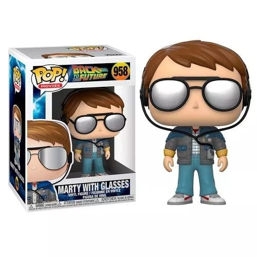 Figura Marty McFly Funko POP Back to the Future Ciencia Ficción Con Gafas