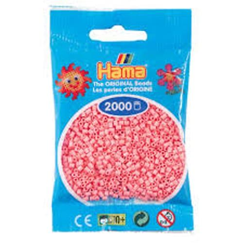 Cuencas Hamma Beads Pictograma Didácticos Tamaño Mini Paquete 2000 Piezas Color Rosado