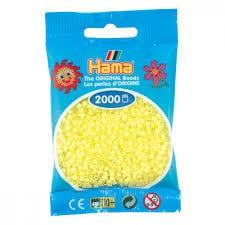 Cuencas Hamma Beads Pictograma Didácticos Tamaño Mini Paquete 2000 Piezas Color Amarillo Pastel