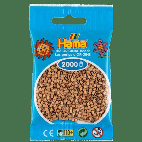 Cuencas Hamma Beads Pictograma Didácticos Tamaño Mini Paquete 2000 Piezas Color Canela