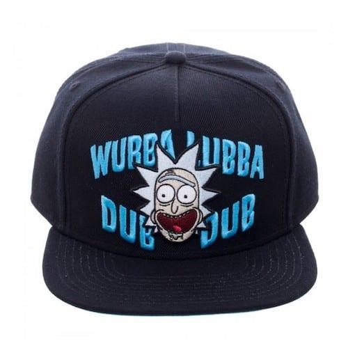 Gorra Plana Rick Wubba Bioworld Rick and Morty Animados Negra