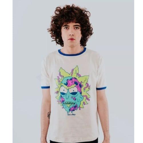 Camiseta Bad Rick Rockgotá Rick and Morty Animados Hombre (Talla S)