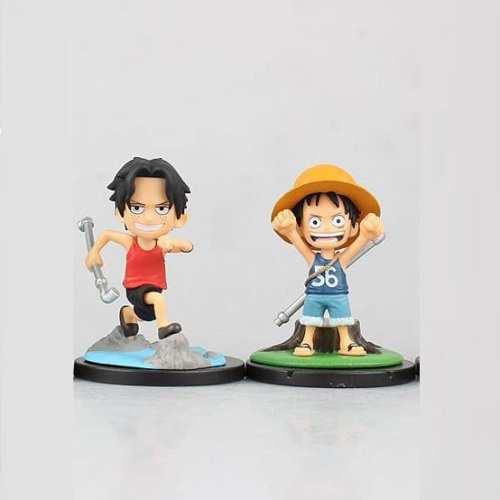 Figura Ace y Luffy One Piece Anime Sorpresa (Unidad)