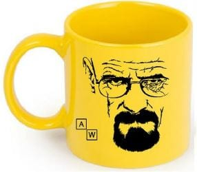 Mug Tallado Walter White TooGEEK Breaking Bad Series en Ceramica