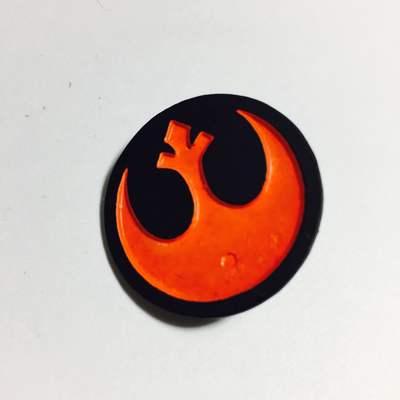 Pines Metálicos Emplema Alianza Rebelde TooGEEK Star Wars Color