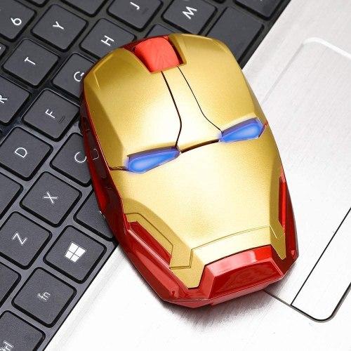 Ratón inalámbrico ergonómico Iron Man Mouse 2.4 G portátil (Entrega de 4 a 5 semanas una vez realizado el pago)