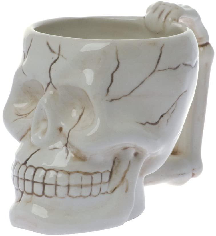 COOL Cráneo de cerámica taza de café taza  (Entrega de 3 a 4 semanas una vez realizado el pago)