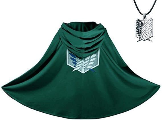 Capa Verde de Attack On Titan  Shingeki No Kyojin (Entrega de 3 a 4 semanas una vez realizado el pago)