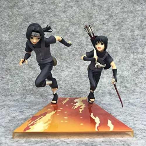 "Figura Sasuke & itachi PT Naruto Shipudden Anime 6"" En caja"