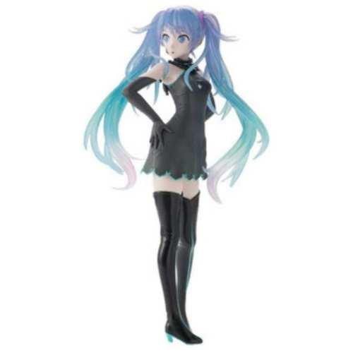 Figura Hatsune Miku PT Vocaloid Anime Vestido Negro