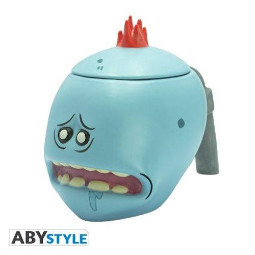 Mug Ceramico Mr Meeseeks AbyStyle Rick Y Morty Animados 3D Ceramico