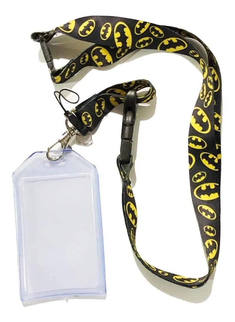 Porta carnet Batman Dc Comics Color Negro Con Simbolos Amarillos