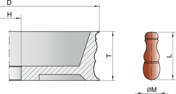Алмазный круг для минарет из янтаря формы B