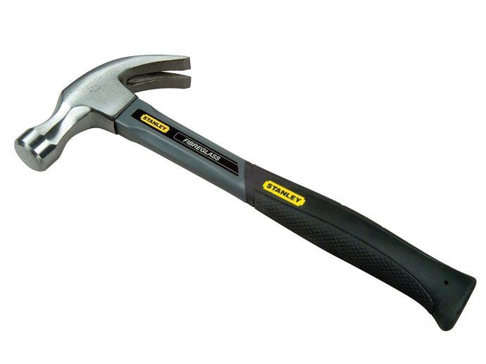 Stanley Fibreglass 20 ounce Claw Hammer 20 oz