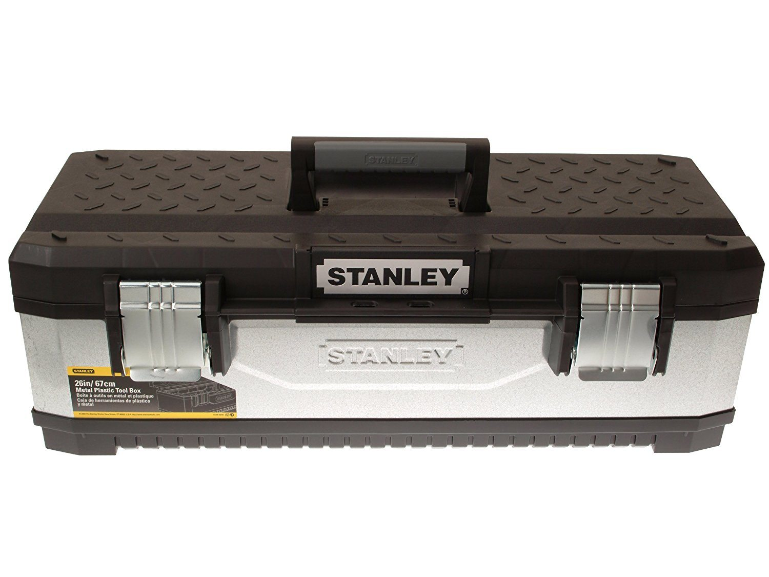 Stanley 195620 Galvanised Metal Toolbox 26-inch
