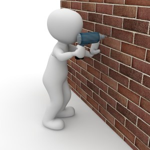 Drilling Through Brick
