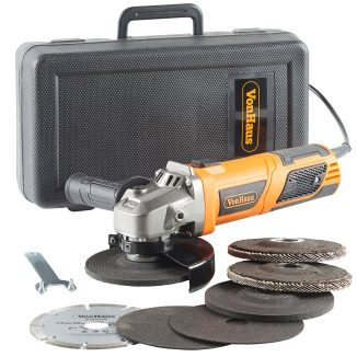 """picture of a VonHaus 950W 125mm (5"""") Angle Grinder with 7 Disc Accessory kit Angle Grinder"""