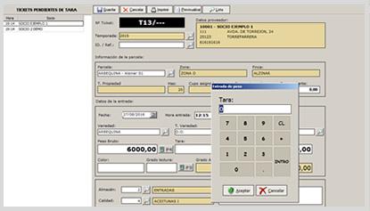 Gestión de Pesadas Software