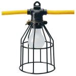 SOUTHWIRE 7539SW 10-Lamp A23 String Light, 120 VAC, SJTW, 100 ft