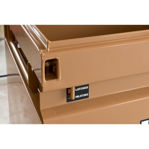 KNAACK JOBMASTER™ 4830-D Powder-Coated Steel Chest with Junk Trunk™, 48 in L x 30 in W x 35 in H, 17 cu-ft, Tan