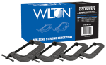 WILTON 11115 540A Carriage C-Clamp Kit, 1110/2150/2450/2750 lb, 2-1/2 - 8 in Opening