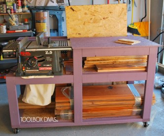 How to Tutorial on building a workbench that's compact, mobile and stylish.