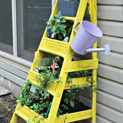 Turn That Old Wooden Ladder Into An Herb Garden