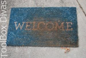 Door mat Before
