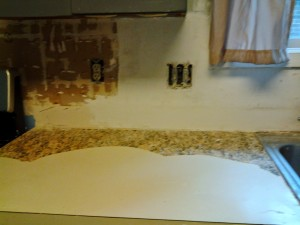 marble tile countertop. I Had To Remove The Faux Granite Vinyl Contact Paper. Marble Tile Countertop S