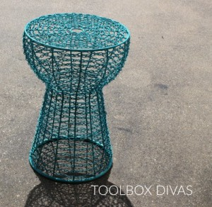 Iron chain stool