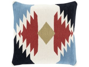 ToolBoxDivas_Surya Cotton Kilim Burgundy Black Slate Lime & Ivory Taken with Tribal Throw Pillow