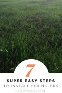7 Easy Steps to Install Sprinklers - ToolBox Divas