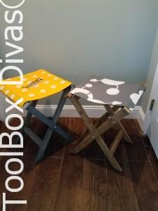DIY Canvas Folding Stools anyone can make.