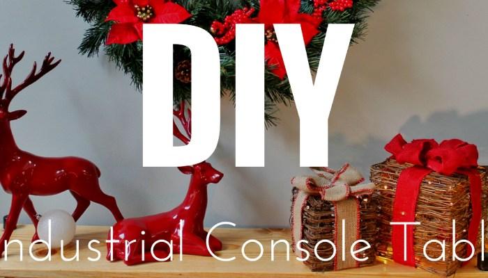 DIY Industrial Console Table