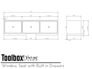 Free plans for Window Seat with Built in Drawers - ToolBox Divas
