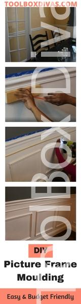 Toolbox Divas - how to install picture frame moulding wainscoting