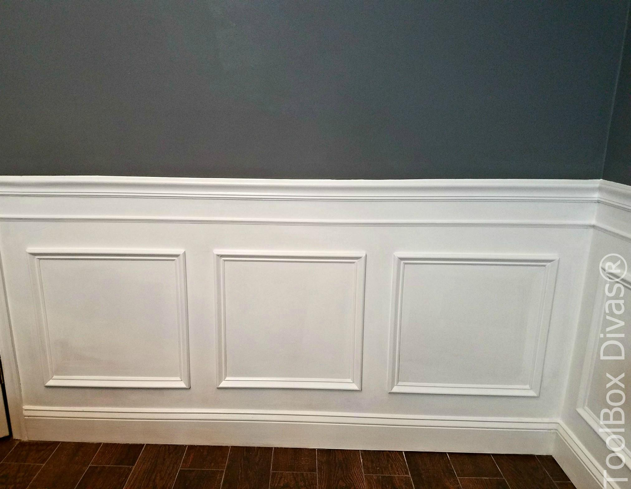 DIY Picture Frame Wainscoting | TigerDroppings.com